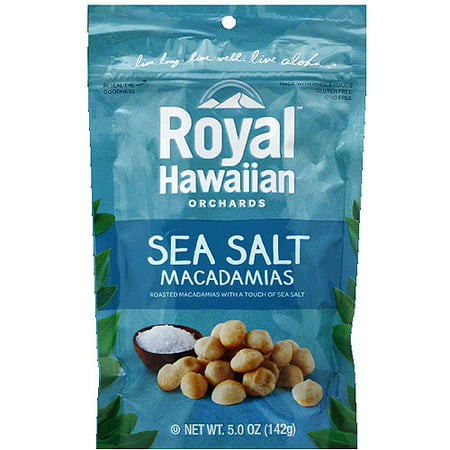 Royal Hawaiian Orchards Sea Salt Macadamias, 5.0 oz, (Pack of 6)