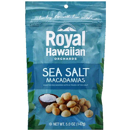 Royal Hawaiian Orchards Sea Salt Macadamias, 5.0 oz, (Pack of (Hawaiian Macadamia)