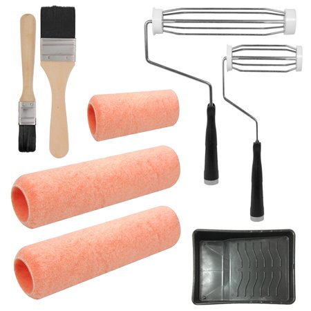 8 pc Paint Applicator Kit Set Painting Home Wall Tools Roller Brush Paint