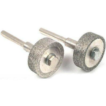 2 Diamond Wheels Lapidary Rock Grinding 1/4