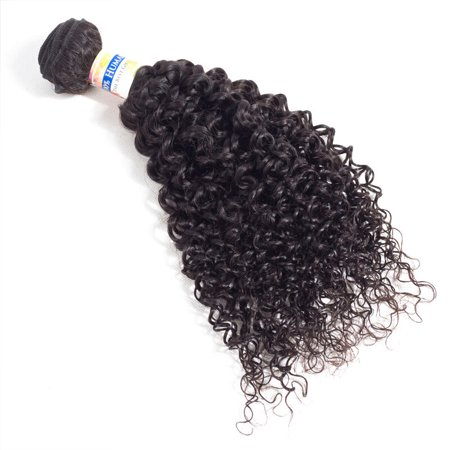 YYONG Wet And Wavy Hair 3 Bundles Indian Curly Human Hair Kinky Curly Weave Human Hair, 18
