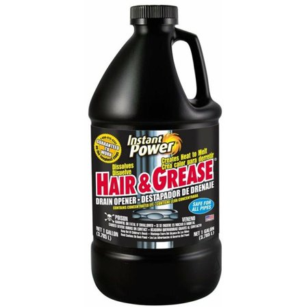 Scotch 1972 Hair & Grease Drain Opener, 1-Gallon - Quantity (Best Drain Cleaner For Hair And Grease)
