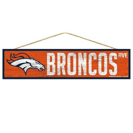 Denver Broncos Sign 4x17 Wood Avenue Design - image 1 de 1