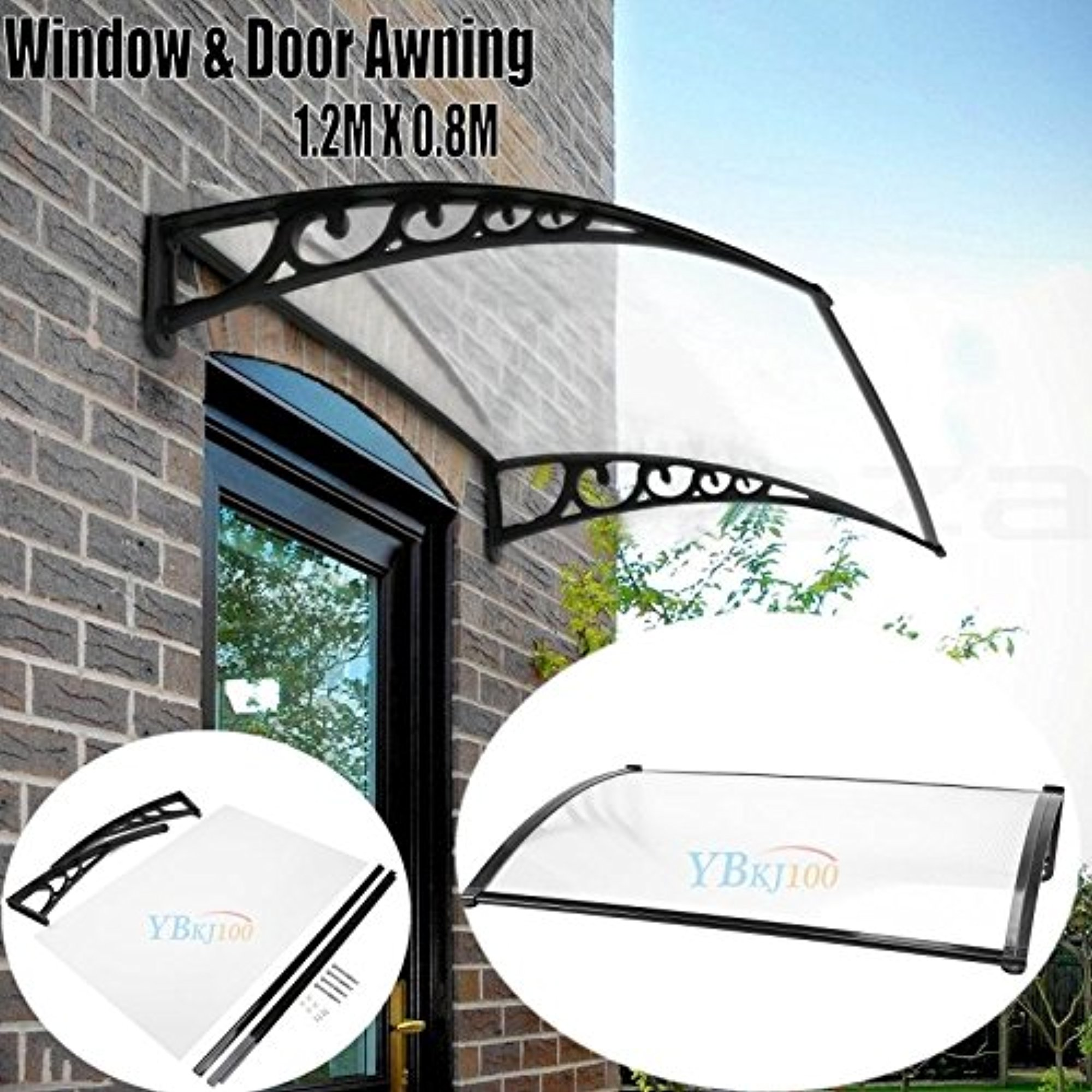 Overhead Window Door Awning Canopy Decorator Patio Cover Clear Polycarbonate Outdoor Cover UV Rain Snow  sc 1 st  Walmart & Overhead Window Door Awning Canopy Decorator Patio Cover Clear ...