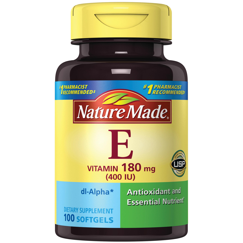 Nature Made® Vitamin E 180 mg (400 IU) dl-Alpha Softgels