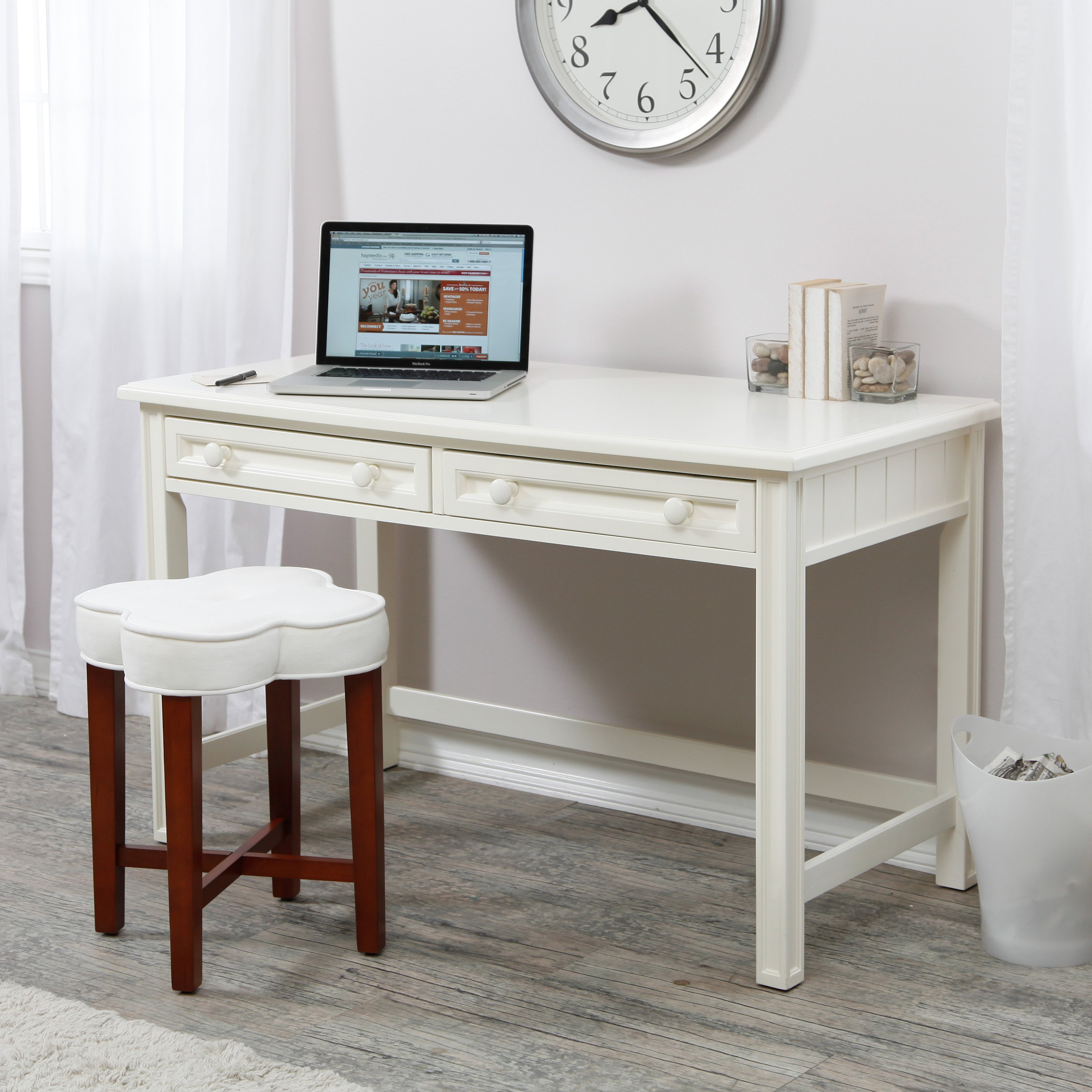 Belham Living Casey Writing Desk - White