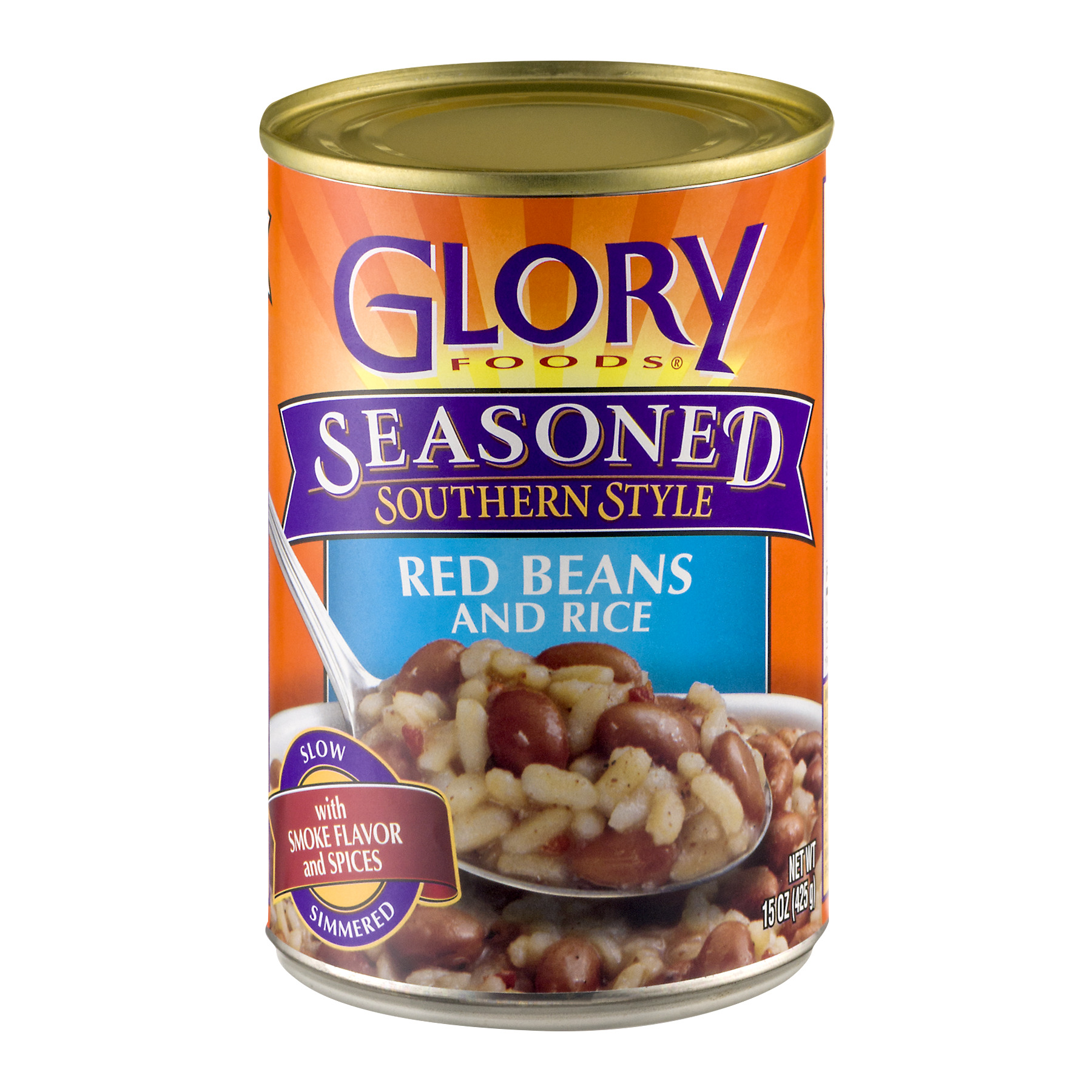 Glory Foods Seasoned Southern Style Red Beans And Rice, 15 Oz