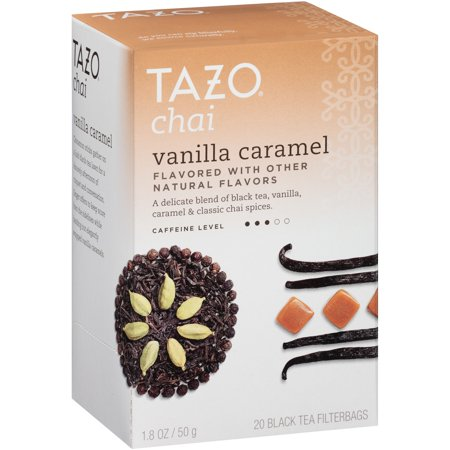 (3 Boxes) Tazo Vanilla Caramel Chai Black Tea Filterbags (20 (Iced Chai Tea Latte Recipe With Tea Bag)