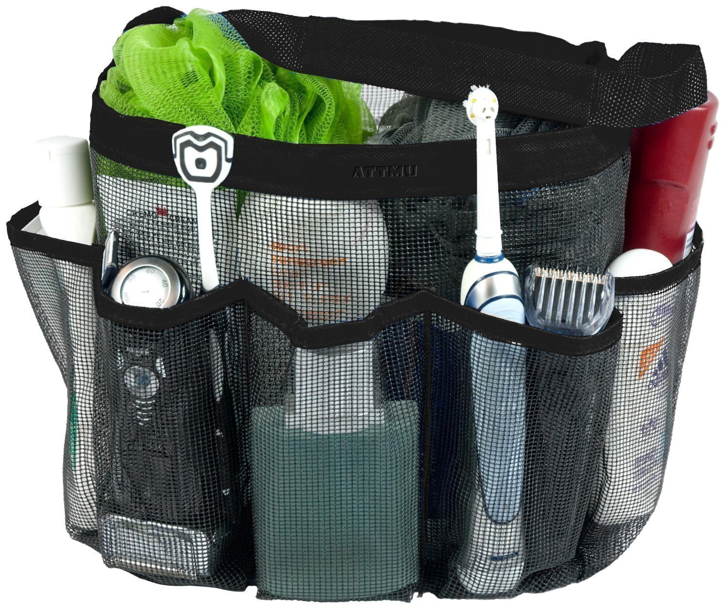 Mesh Shower Tote Caddy, FrontTech Shower Tote Bag with 8 Pockets, Quick Dry Bath... by