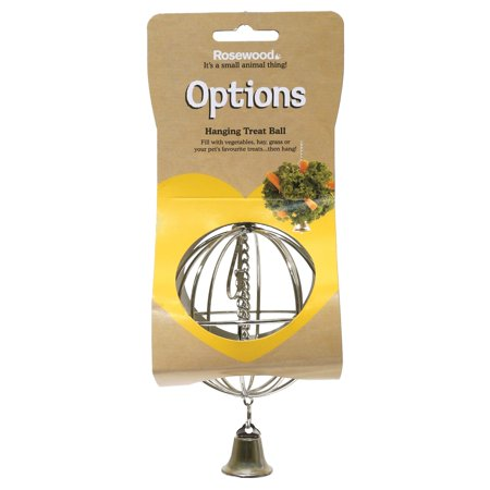 Rosewood Pet Options Hanging Food Ball Small Animal Feeding Accessory
