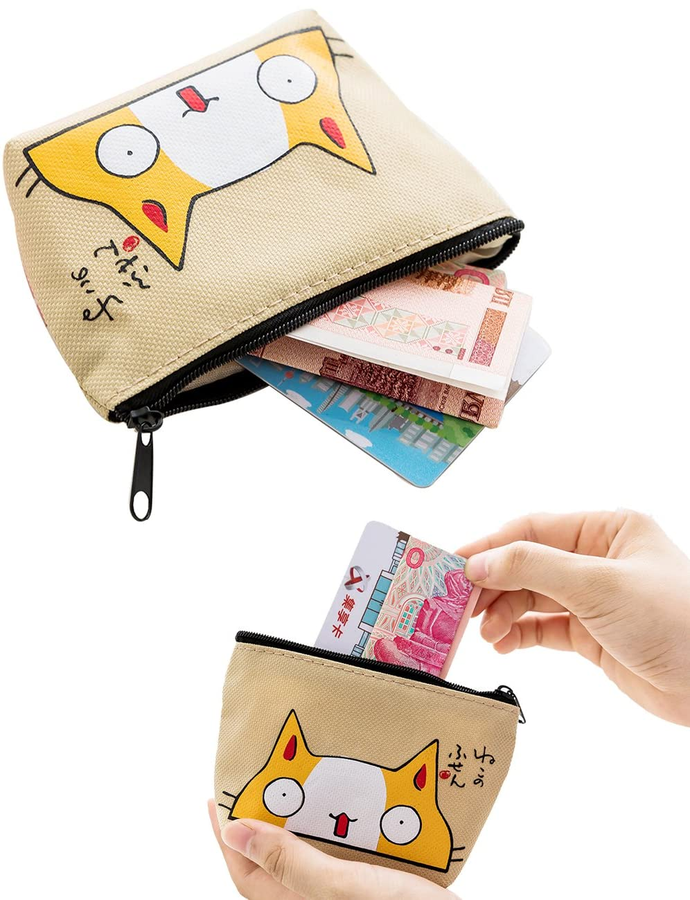 Zip Pouch Cable Pouch Zip Wallet Coin Purse
