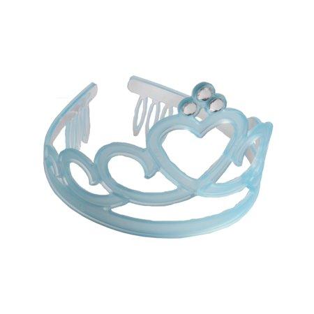 Frosted Frozen Blue Tiara Jewel Princess Queen Royalty Costume - Costume Tiara