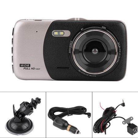 LHCER 4Inch HD 1080P Car DVR Driving Video Recorder Dual Lens Dash Camera Night Vision, Car Dash Camera, HD Car DVR - image 3 of 13