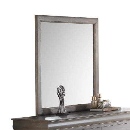 ACME Louis Philippe III Wooden Frame Mirror, Multiple Colors