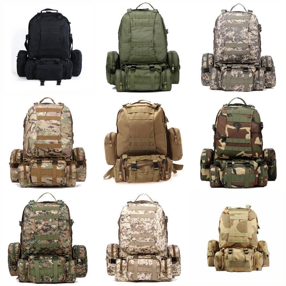 Zimtown 3D Molle 55L Military Tactical Backpack, Outdoor Large Assault Combat Rucksack Bag for Hiking Camping Mountain Climbing