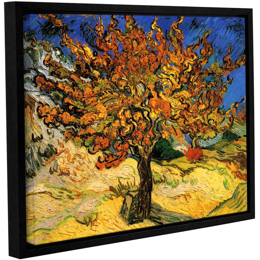 "Vincent Van Gogh ""Mulberry Tree"" Floater-Framed Gallery-Wrapped Canvas"