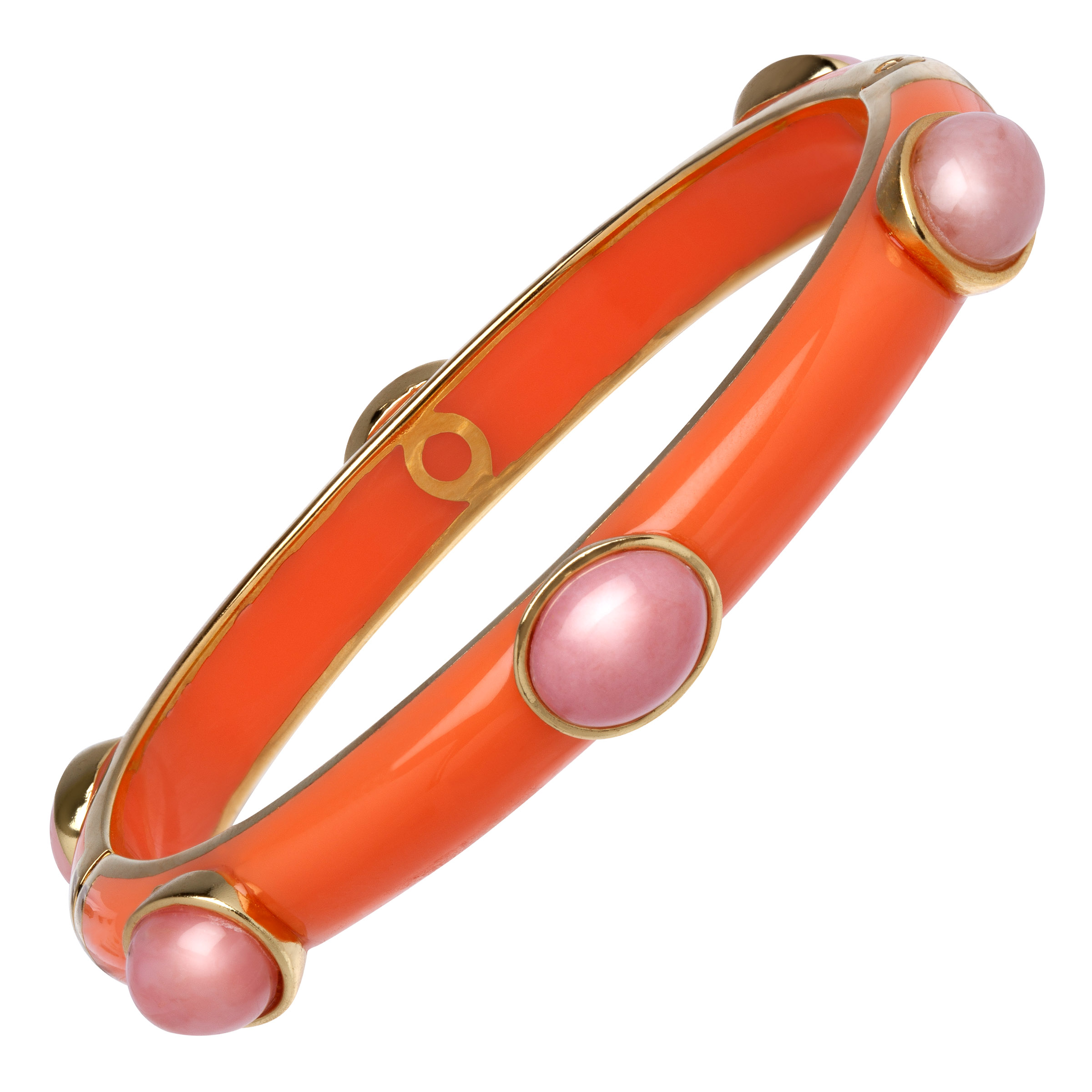 Cristina Sabatini Pink Opal Six-Stone Bangle Bracelet in 18kt Gold-Plated Sterling Silver by Richline Group