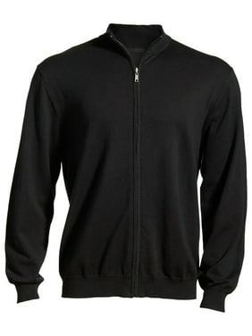 130dd8611 Product Image Ed Garments Men's Full Zip Sweater, BLACK, XXXX-Large