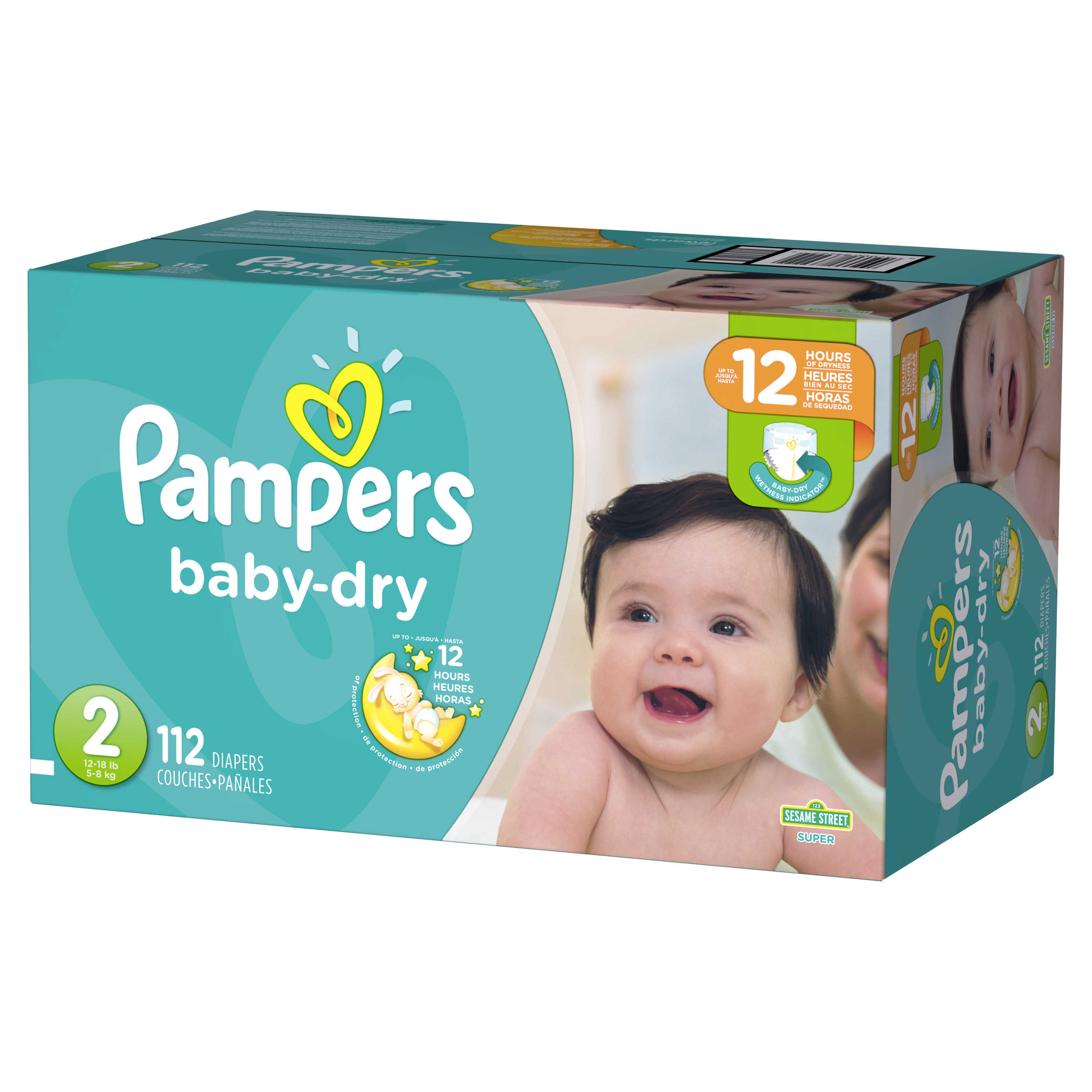 Pampers Baby-Dry Diapers Size 2 112 Count
