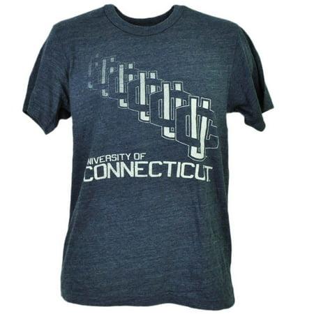 - NCAA UConn Huskies Connecticut Repeat Logo Blue Shot Sleeve Mens Tshirt Tee XL