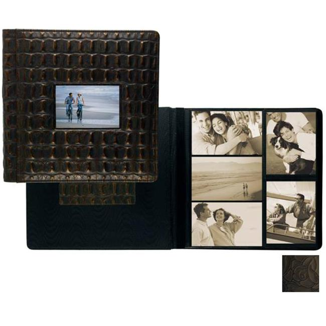Raika IT 113-D BLK Frame Front Scrapbook Album - Black
