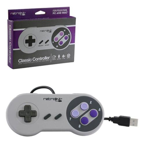 2-Pack Wired USB Controller For PC And Mac For Super Nintendo Entertainment System