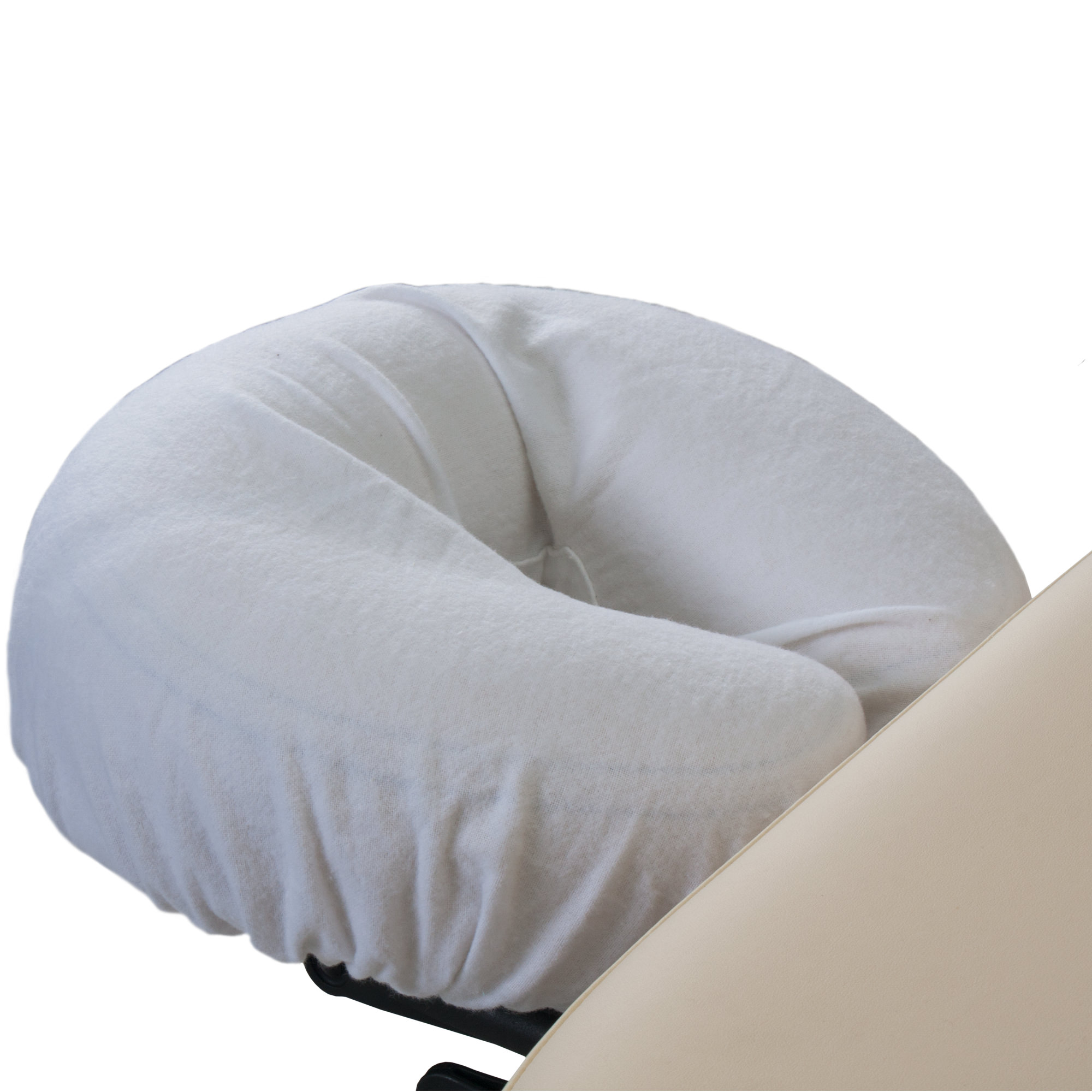 EARTHLITE Professional Flannel Face Pillow Covers - 2 Piece Set, 100% Cotton Flannel Massage Table Headrest Covers, Cradle Covers