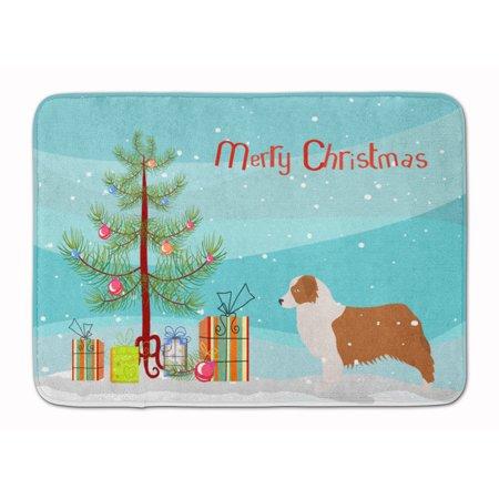 australian shepherd dog christmas tree machine washable memory foam mat