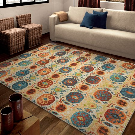 orian rugs bright mini medallions kalahari multi colored area rug. Black Bedroom Furniture Sets. Home Design Ideas