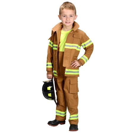 Kids Firefighter Costume](Tan Firefighter Costume)