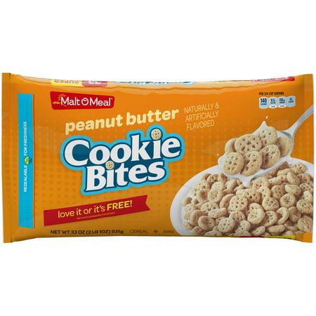 Bites Cereal (Malt O Meal® Peanut Butter Cookie Bites Cereal 33 oz. Bag )