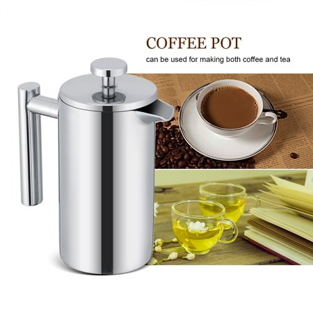 Ejoyous 350ML Double Wall Stainless Steel Coffee Maker French Press Tea Pot with Filter ,French Press, French Press Maker - image 2 of 7