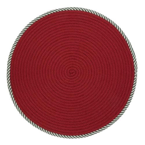 Colonial Mills Twisted Stripe Reversible Round Christmas Rug - 5' x 5'