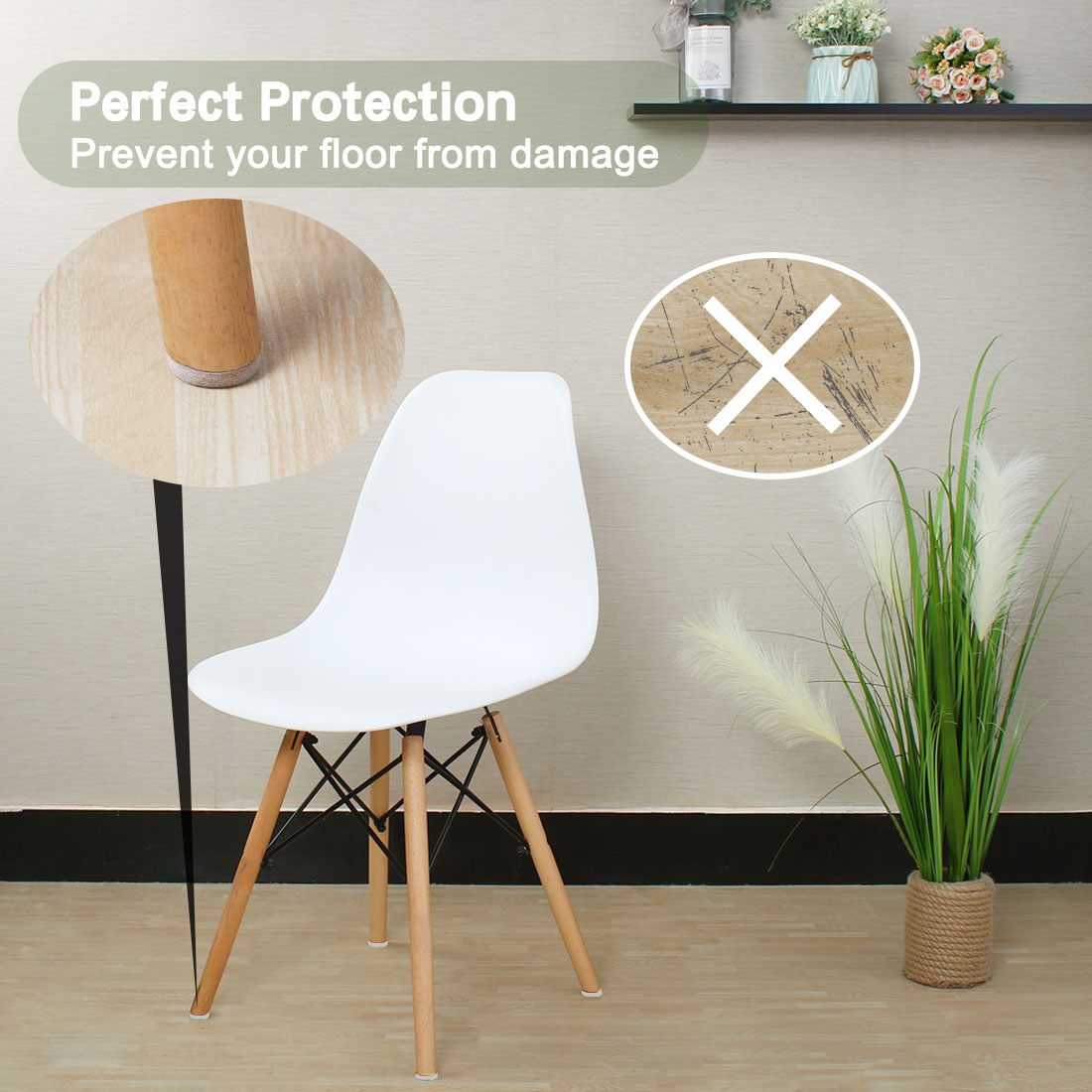 "Furniture Pads Round 1 1/2"" Self-stick Anti-scratch Table Floor Protector 36pcs - image 6 de 7"