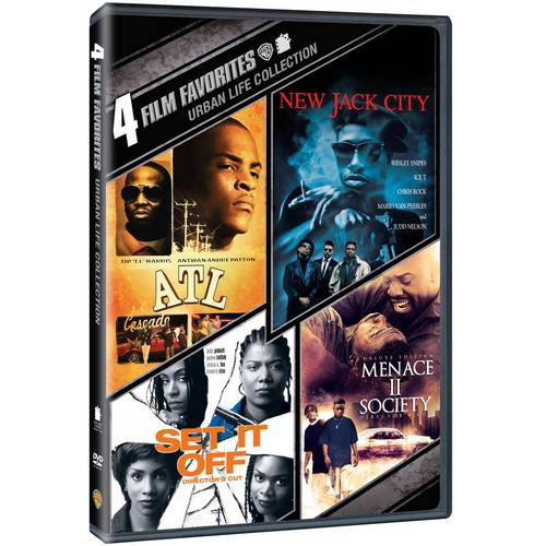 4 Film Favorites: Urban Life - Volume 1, ATL / New Jack City / Set It Off Deluxe Edition / Menance II Society Deluxe Edition (DVD   Digital Copy) (With INSTAWATCH) (Walmart Exclusive))
