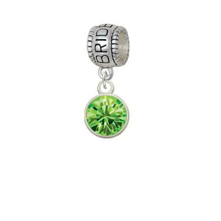 10mm Lime Green Crystal Drop - Bridesmaid Charm Bead