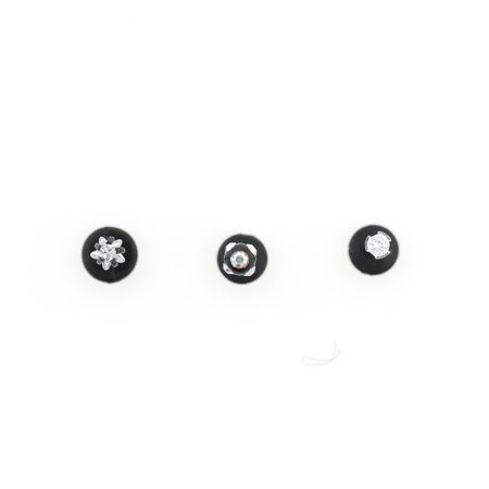 clear plastic backs diy surgical studs pin earrings
