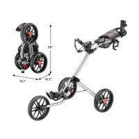 Caddytek CaddyLite 15.3 V2 Golf Push Cart, Silver