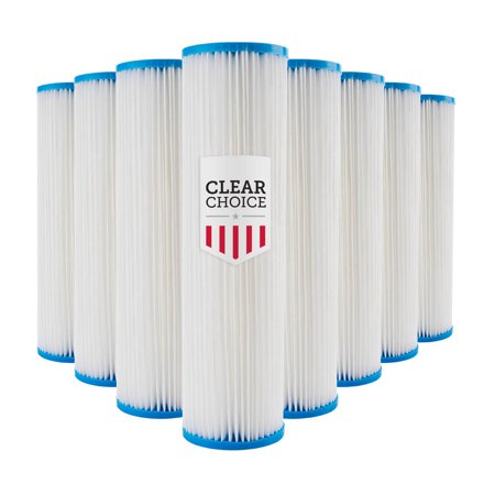 Clear Choice Sediment Filter Cartridge 10in X 2.50in Replacement for Pentek 155038, Watts FM-50-975, Whirlpool WHKF-WHPL, Dupont WFPFC3002, Liquatec SPF-25-1050, (Clear Choice Replacement Filter)