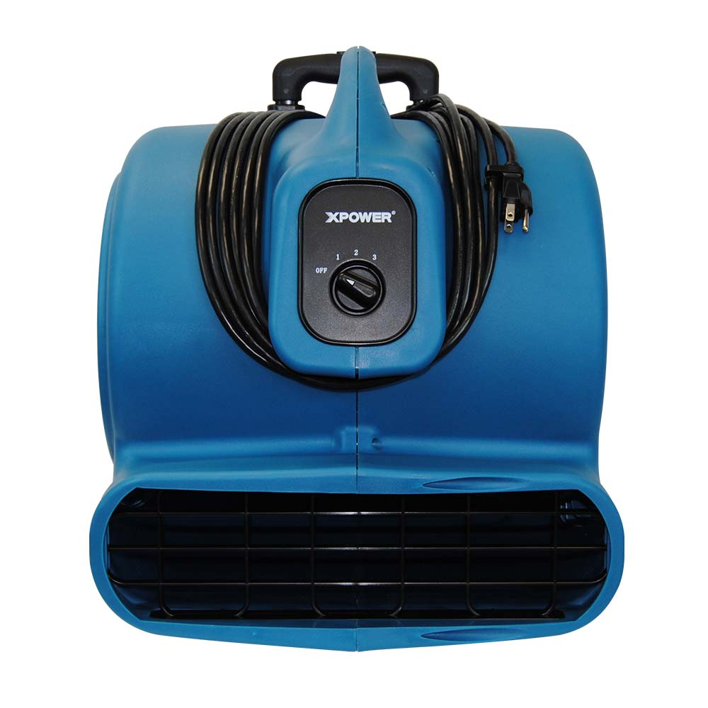 XPower P-830H 1 HP 3 Speed Air Mover with Telescopic Handle & Wheels