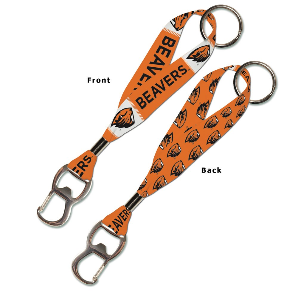 Oregon State Beavers Official NCAA 8 inch  Lanyard Bottle Opener Key Strap Key Chain Keychain by Wincraft