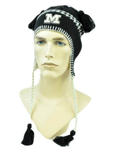 NCAA Zephyr Alpine Tassel Knit Beanie Hat Ear Flaps Toque Missouri Tigers Mizzou by Zephyr