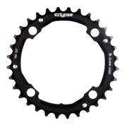 Eclypse, Glide-Pro 104, 34T, 8-10sp, BCD: 104mm, 4 Bolt Middle Chainring, Alloy, Black