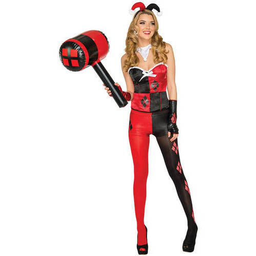 Harley Quinn Corset Top Adult Halloween Accessory by