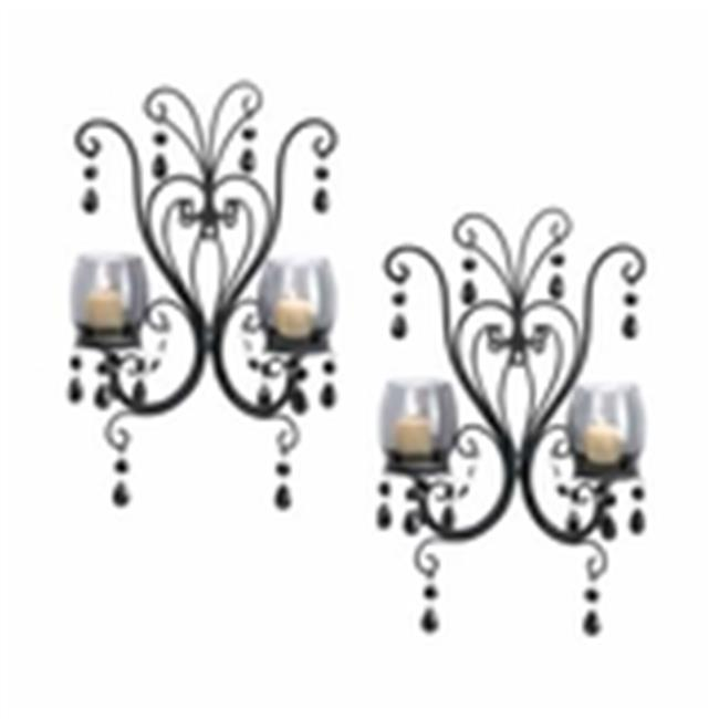 Eastwind Gifts 10015106 Midnight Elegance Candle Wall Sconces by Eastwind Gifts