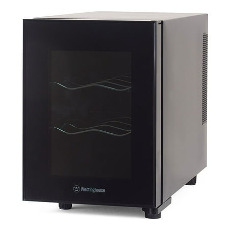 Westinghouse 6 Bottle Thermal Electric Wine Cellar Refrigerator Cooler, Black