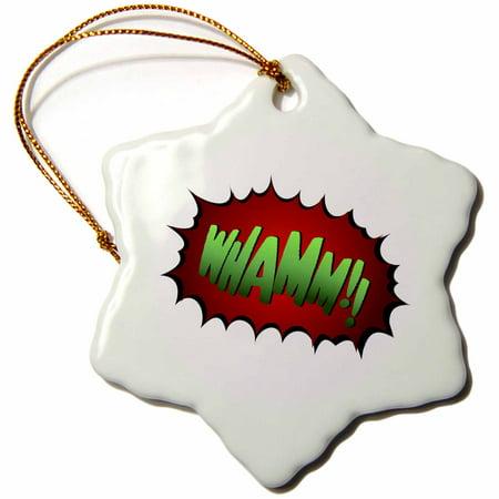 3dRose Super hero fight expression Whamm fist fistfight superhero - Snowflake Ornament, 3-inch](Superhero Ornaments)