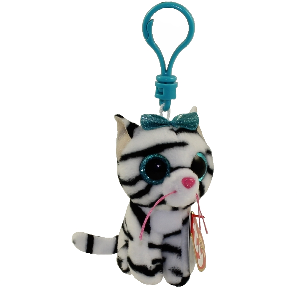 CLAIRE/'S EXCLUSIVE QUINN the CAT KEY CLIP TY BEANIE BOOS MINT TAGS