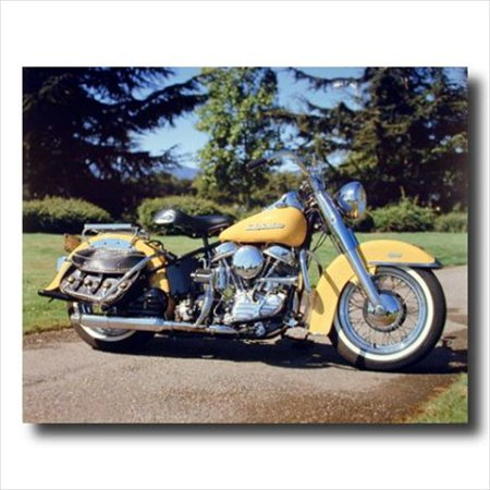 Pan Head Harley Davidson Motorcycle Wall Picture Art Print
