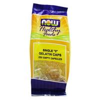 NOW Foods - Gelatin Empty Capsules Single '0' Size - 250 Capsules